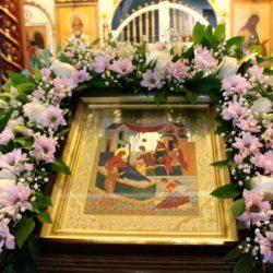 Архиерейское служение в престольный праздник храма Рождества Пресвятой Богородицы пгт. Нижнеивкино