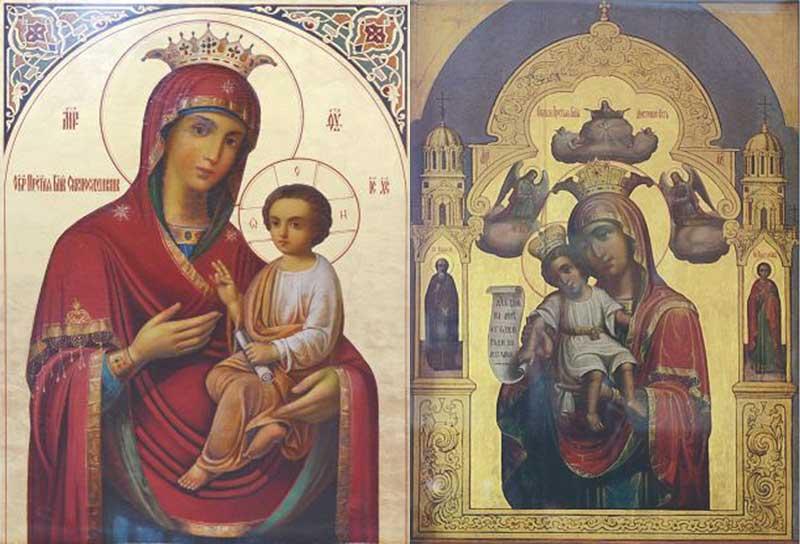 """Иконы Божией Матери """"Достойно есть"""" и """"Скоропослушница"""""""
