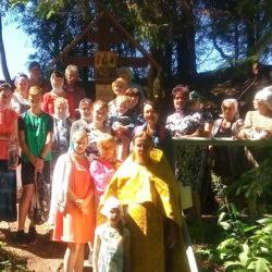 Освящение поклонного Креста на «Живоносном источнике» в пгт. Нижнеивкино