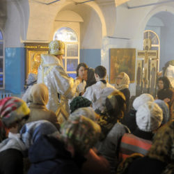 Митрополит Марк совершил всенощное бдение в храме Рождества Пресвятой Богородицы Нижнеивкинского благочиния